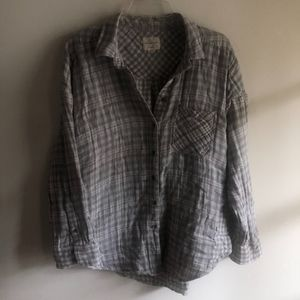 American Eagle Outfitters Tops - AE AHH-Mazingly Soft Oversize Duo Plaid Top